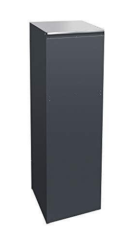 frabox Design Paketkasten Namur EXKLUSIV Edelstahl/Anthrazitgrau - 4