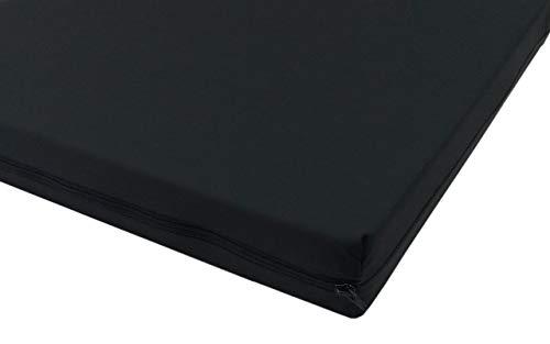 Biona Rollstuhlkissen aus Verbundschaum für Faltrollstühle Inkontinenzbezug (40 x 40, schwarz)