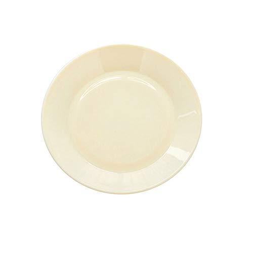 DEI QI 13CM Assiette À Dessert Assiette De Service Vaisselle En Plastique Incassable 1pc (Couleur : Beige)