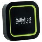 Millefiori - Deodorante per auto quadrato, fragranza: sandalo e bergamotto