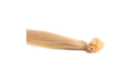 Extensions Cheveux Kératine 100 mèches russes 1gr Blond Platine 50cm