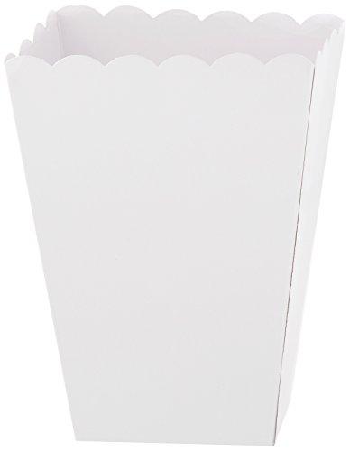 Kleine weiße Popcornschachtel aus Papier