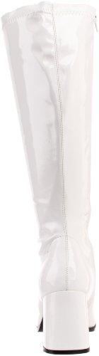 Pleaser Damen Gogo 300x Kurzschaft Stiefel Weiß (Wht Str Pat)