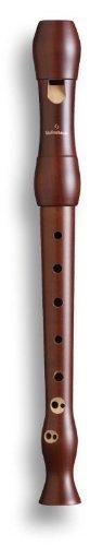 Mollenhauer 1042d Student Sopran-Blockflöte Barock mit Doppelloch Birnbaum dunkel gebeizt - Schulblockflöte - inkl. Baumwolltasche, Wollwischer, Fettdöschen, Grifftabelle, Pflegeanleitung