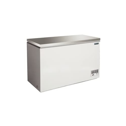 21tjHtYEA6L. SS500  - Polar Chest Freezer - Stainless Steel lid. Capacity: 390 litre.