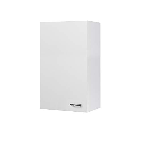 Flex-Well Küchen-Hängeschrank UNNA | Oberschrank vielseitig einsetzbar | 1-türig | Breite 50 cm | Höhe 89 cm | Weiß