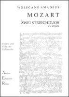 2 STREICHDUOS KV 423 + KV 424 - arrangiert für Violine - Viola - (Violoncello) [Noten / Sheetmusic] Komponist: MOZART WOLFGANG AMADEUS