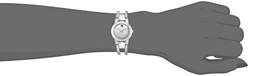 Movado Women's 24mm Silver Steel Bracelet & Case synthetic sapphire Watch 606538