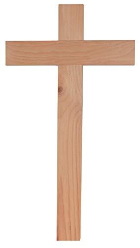 Kaltner Präsente Geschenkidee - 35 cm Wandkreuz Echt Zirbe Zirben Holz Kreuz Holzkreuz Kruzifix für die Wand klassisch - Vatikan-modell
