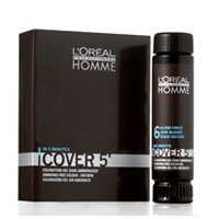 LOREAL LP Homme COVER 5' - 3x50ml 6 - Dunkelblond