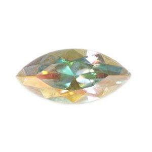 Swarovski - Navette Kristall Stein Crystal AB 15mm (4)