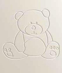 Cuna para bebé, modelo osito. Lateral abatible y 3 posiciones de somier.