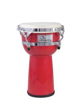 showking Set aus 2 x Djemben Sundown, rot, 37cm - afrikanische Trommel/Standtrommel für Einsteiger - klangbeisser