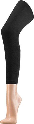 Glatte Kinder Leggings aus Baumwolle | Single Jersey Farbe Schwarz Größe 116/122