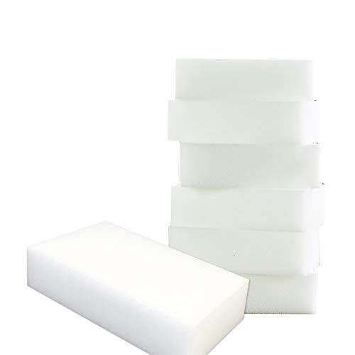 50Magic goma de borrar esponjas de limpieza casi todas las superficies–blanco cocina limpieza esponja–esponja para limpiar el coche–sin productos químicos limpiador de manchas y Mark Retiro