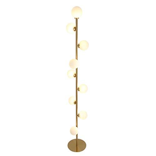 G4 Niedrigen Metall (*Stehlampe Stehlampe, sphärische Glasstehlampe, nordische postmoderne Wohnzimmer-Schlafzimmer-Buch-G4 * 9-Lichtquellen-Stehlampe Stehlampe gewölbt)