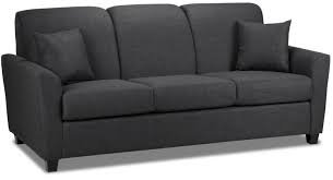 Black Three Seater Sofa