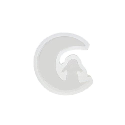 Babysbreath DIY Silikon klares Mond Stern Form hängendes Halsketten Form Form Harz Fertigkeit Werkzeug NO.2