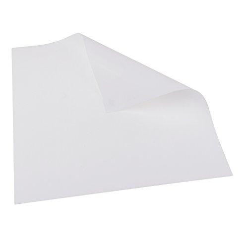 D DOLITY 5 Farben Wärmeübertragung Vinyl Blatt Zum Aufbügeln Kleidung HTV Schneiden Plotter DIY T-Shirt - Weiß, 25x25cm