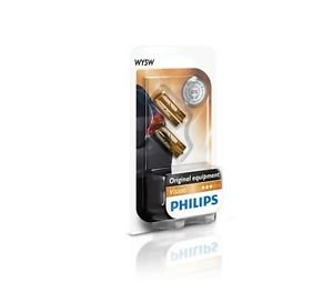 Preisvergleich Produktbild PHILIPS 12396NAB2 WY5W 12V 5W Blinker Gelb Premium Vision Doppelblister BLINKER