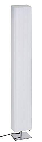 Trango - Lámpara de pie rectangular con diseño plisado, color blanco, 120 cm, modelo TG-HP-120S