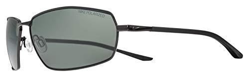 Nike EV1090-001 Pivot Eight P Frame Polarized Grey Lens Sonnenbrille, Shiny Black