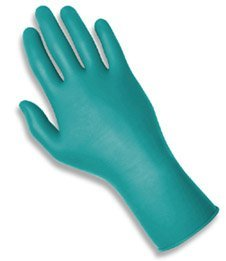 Touch N Tuff Nitrile Gloves, Teal, Size 8.5-9, 100 Gloves/Box by Touch N Tuff