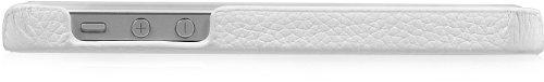 StilGut exklusives Cover für die Rückseite aus echtem Leder für Apple iPhone 5 & iPhone 5s, Schwarz Vintage Weiß