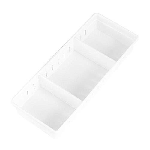 siming713 Einfache Kunststoff verstellbare Schublade Aufbewahrungsbox Küche Bord Trennwand Bord Lagerung@L_Weiß