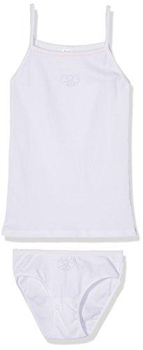 Alphabet Top+Culotte, Ensemble Fille, Blanc (Blanc), 10 Ans (Taille Fabricant: 10A) Alphabet