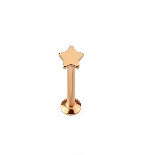 Paula & Fritz UNIVERSAL Stud Labret Monroe Cartilage Gold roségold schwarz Silber Spitze Stern Edelstahl Chirurgenstahl 316L LSI27-1606_K - Universal Stud