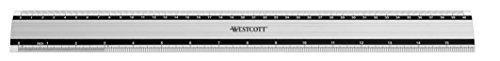 Westcott E-10192 00 Righello in alluminio particolarmente antiscivolo, 40 cm / 16 pollici