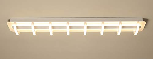 Deckenleuchte Rechteck LED Originell Acryl Deckenlampe Interessant Modern Art für Kinderzimmer Esszimmer Wohnzimmer Schlafzimmer Terasse Weißes Licht 120 * 19 * 9cm 50W[Energieklasse A ++]