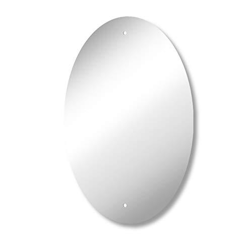 Mirrorworld Espejo Rectangular con Bordes biselados, 1200 x 1300 con Respaldo de Seguridad Premium y Clips en J, Vidrio de Calibre Premium de 6 mm, Vidrio, 400x600mm