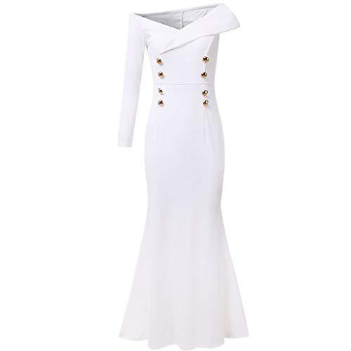 Day.LIN Damen Langarm Lose Bluse Hemd Shirt Oversize Sweatshirt Oberteil Tops Elegantes Vintage Kleid