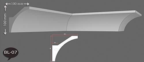 2m Indirekte LED Beleuchtung Zierprofile Stuckleisten Styropor Bordüre Dekor 100mmx100mm BL07