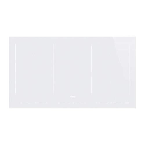 SMEG SIM693DW Piano Cottura Bianco Incasso A induzione, 2100 W, Glass