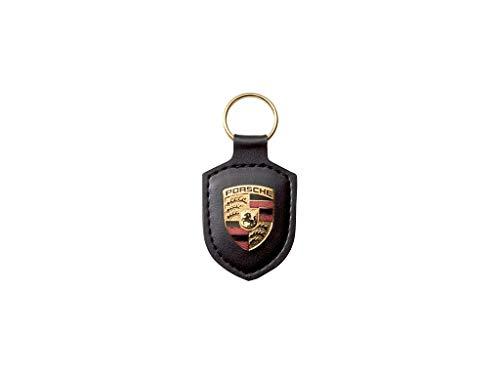 Original Porsche Crest Llavero de Cuero, Negro, WAP0500900E