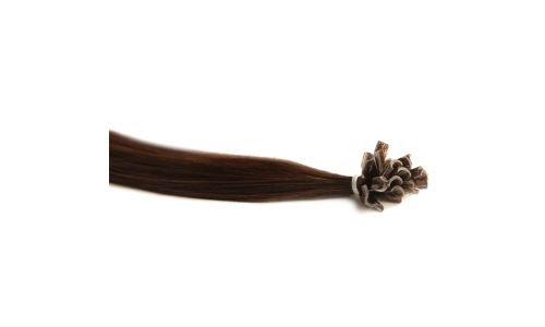 Extensions Cheveux Kératine 25 mèches indiennes 0,8gr Chocolat 50cm