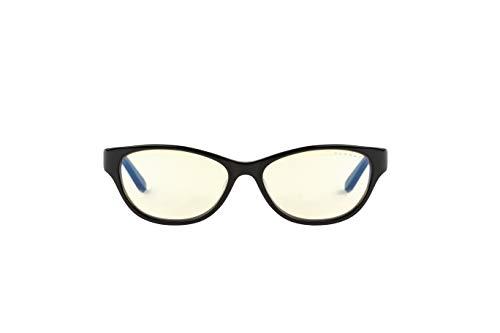 Gunnar Optiks JWL-00101 Juwelen-Computerbrille, blockblaues Licht, blendfrei, minimiert Digitale Augenbelastung, Onyx/Amber
