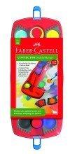 Faber-Castell CONNECTOR Farbkasten 12 Farben, inkl. Deckweiá