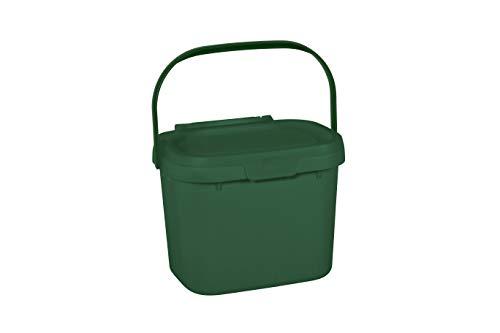 Addis Everyday - Papelera de Cocina, para residuos de Alimentos, para compostar, plástico, Verde Oscuro...