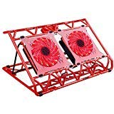 """aicheson Laptop Cooling pad, Laptop Cooler 2 USB Ports 15 led Lights red Cool Notebook colling mat for 10""""-15.6"""" Computer"""