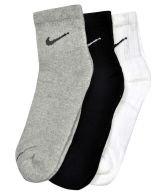 ayushicreationa Nike Multicolour Cotton Ankle Socks - Pair Of 3