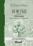 De mi país. Miscelánea histórica y literaria (Biblioteca del País Vasco)