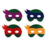 JDProvisions 12 Stück Superhelden Party Fun Cosplay Filz Masken für Jungen Mädchen, Filz, grün, 3 Years + (Mädchen Kostüme Turtle Ninja Halloween)