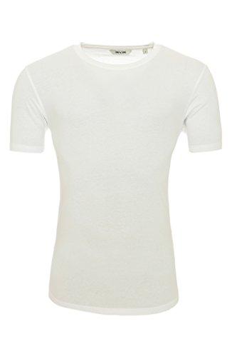 ONLY & SONS Herren Tshirt onsDAVID Longy Split O-Neck aus 100% Baumwolle White
