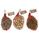 Net of 50 Glass Marbles [Toy]P