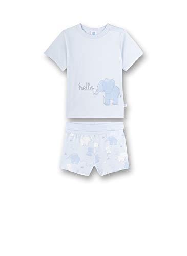 Sanetta Baby-Jungen Pyjama kurz Zweiteiliger Schlafanzug, Blau (blau 50308), 98 (Herstellergröße:098)