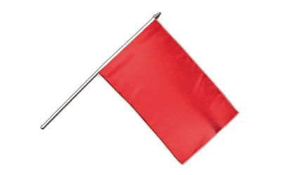 Stockflagge Einfarbig Rot - 30 x 45 cm